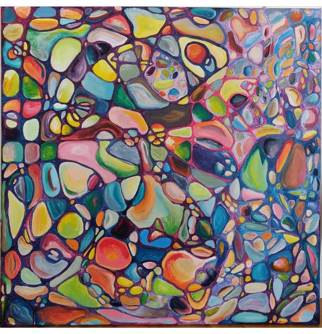 Simone Hauptmann, Labyrint 80x80 cm
